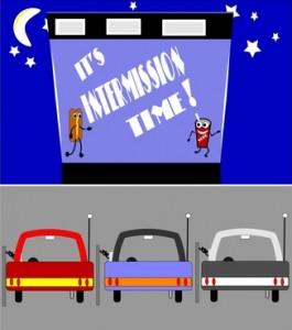 retro drive in intermission time